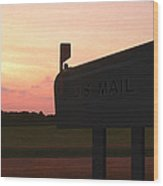 The Mail Of Old Wood Print by Mike McGlothlen