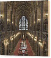 The Main Library Hall Wood Print