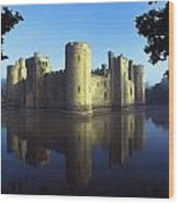 The Majestic Bodiam Castle And Its Wood Print