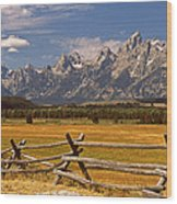 The Majestic Tetons Wood Print