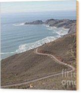 The Marin Headlands - California Shoreline - 5d19593 Wood Print