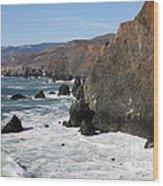 The Marin Headlands - California Shoreline - 5d19692 Wood Print
