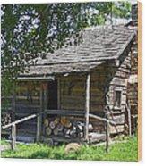 The Mark Twain Family Cabin Wood Print