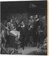 The Mayflower Compact, 1620 Wood Print