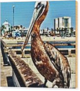 The Mayor Of Venice Pier Wood Print