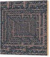 The Maze Wood Print