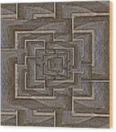 The Maze Within Wood Print