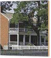 The Mclean House In Appomattox Virgina Wood Print by Teresa Mucha
