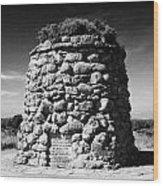 the memorial cairn on Culloden moor battlefield site highlands scotland Wood Print