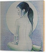 The Mermaid 1 Wood Print by Tim Ernst