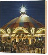 The Merry-go-round Wood Print