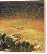The Meteor Crater In Az 1 Wood Print