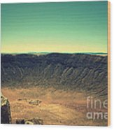 The Meteor Crater In Az 4 Wood Print
