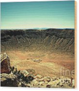 The Meteor Crater In Az Wood Print