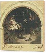 The Midsummer Night's Fairies Wood Print by Robert Huskisson