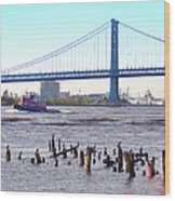 The Mighty Delaware River Wood Print