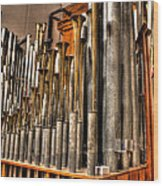 The Mighty Wurlitzer Pipes Detroit Mi Wood Print