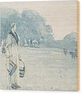 The Milkmaid Wood Print