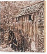 The Mill At Cade's Cove Wood Print