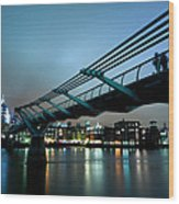 The Millennium Bridge Wood Print