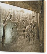 The Miracle At Cana In Galilee - Wieliczka Salt Mine Wood Print