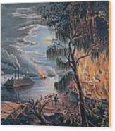 The Mississippi In Time Of War Wood Print