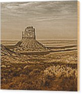 The Mittens At Monument Valley Wood Print