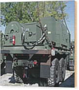 The Mk48 Logistics Vehicle System Wood Print