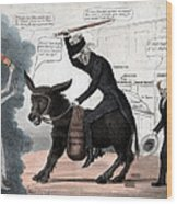 The Modern Balaam And His Ass, Showing Wood Print