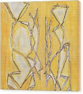 Unique Abstract Art Giclee Canvas Print Original Painting The Couple Decorator Line Art Yellow White Wood Print