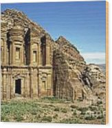 The Monastery Ad Dayr At Petra Wood Print
