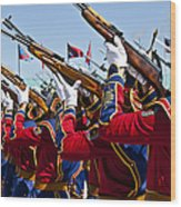 The Mongolian State Honor Guard Wood Print