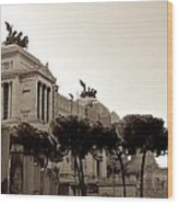 The Monumento Nazionale A Vittorio Emanuele II Wood Print