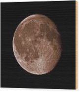 The Moon In Sepia Wood Print