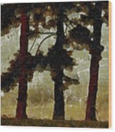 The Morning Stroll Wood Print