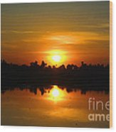 The Most Beautiful Sunset Ever Seen Wood Print
