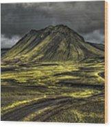 The Mountain Pass Wood Print by Evelina Kremsdorf