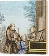 The Mozart Family On Tour 1763 Wood Print