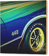The Muscle Car Oldsmobile 442 Wood Print