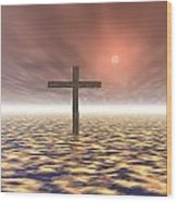 The Mystery Of The Cross Wood Print