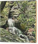 The Mystery Waterfall Wood Print