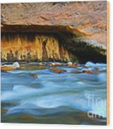 The Narrows Virgin River Zion 4 Wood Print