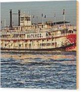 The Natchez Riverboat Wood Print