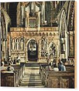 The Nave At St Davids Cathedral 2 Wood Print