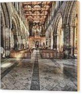 The Nave At St Davids Cathedral 3 Wood Print