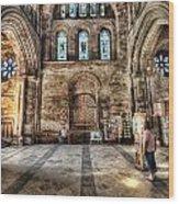The Nave At St Davids Cathedral 5 Wood Print