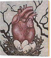 The Nest Of My Heart Wood Print