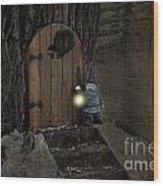 The Nightstalking Elf Wood Print