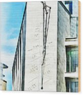 The Noon Sundial At The London Stock Exchange Wood Print