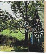 The Old Bike Shoppe Wood Print